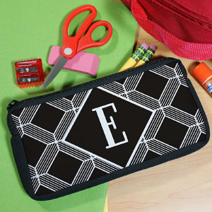 Personalized Geometric Squares Pencil Pouch