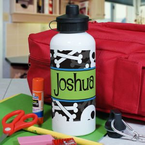 Personalized Skull and Crossbones Water Bottle