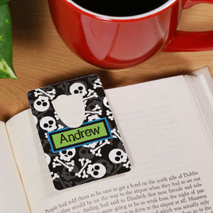 Personalized Skull and Crossbones Bookmark
