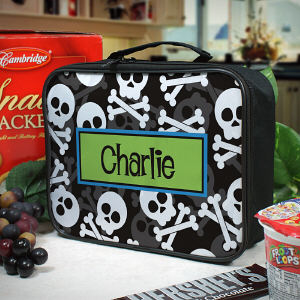 Personalized Skull and Crossbones Lunch Tote