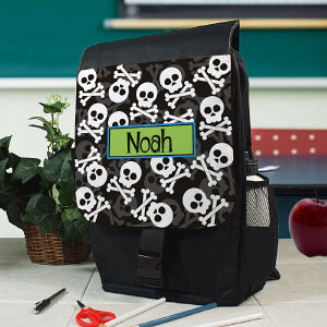 Personalized Skull and Crossbones Backpack
