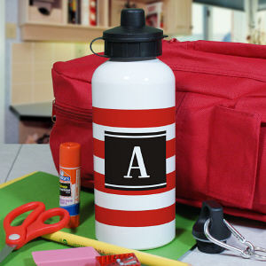 Personalized Stripes Water Bottle