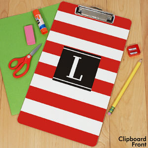Personalized Stripes Clipboard