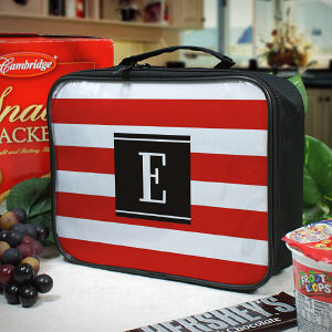 Personalized Stripes Lunch Tote