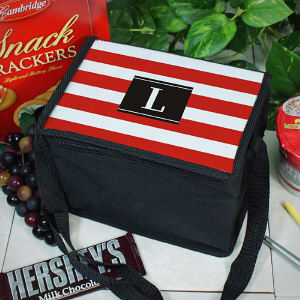 Personalized Stripes Lunch Cooler