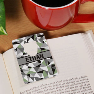 Personalized Jagged Squares Bookmark