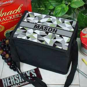 Personalized Jagged Squares Lunch Cooler