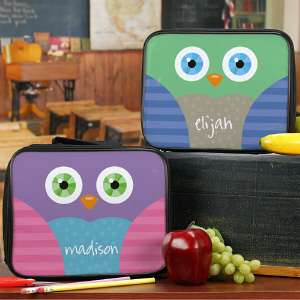 Personalized Owl Lunch Tote