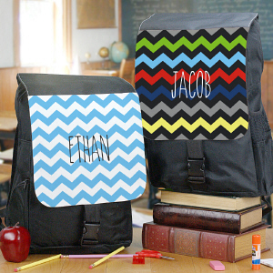 Personalized Any Name Chevron Backpack U780362