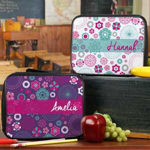 Personalized Floral Lunch Tote