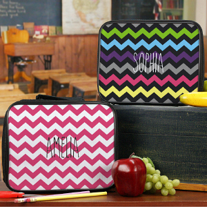 Personalized Chevron Lunch Tote