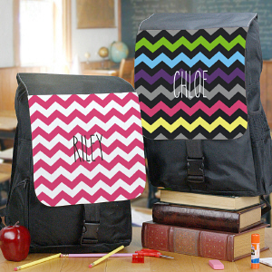 Personalized Chevron Backpack U781662