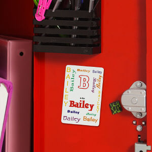 Personalized Name Locker Magnet - A is for...Design