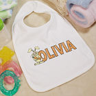 Carrot Name Personalized Easter Baby Bib