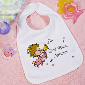 God Bless Baby Girl Bib