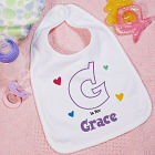 A is For Hearts Personalized Baby Bib