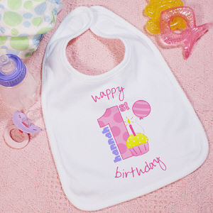 Baby Girl's 1st Birthday Baby Bib