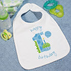 Baby Boy's 1st Birthday Baby Bib