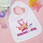 Princess of the King Personalized Baby Bib