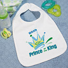 Prince of the King Personalized Baby Bib