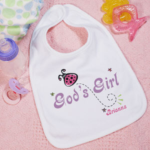 God's Girl Personalized Baby Bib