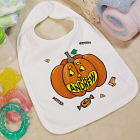 Pumpkin Name Halloween Baby Bib