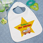 My 1st Christmas Star Personalized Baby Bib