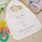 God Bless...Personalized Christening Baby Bib