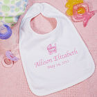 New Baby Girl Personalized Baby Carriage Baby Bib