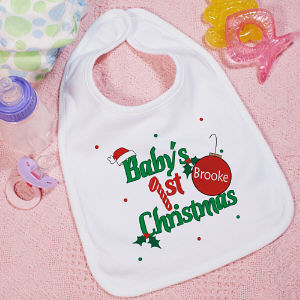 Baby's 1st Christmas Personalized Bib