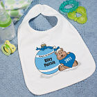 Baby's First Blue Ornament Baby Bib