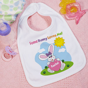 Some Bunny Loves Her Personalized Bib