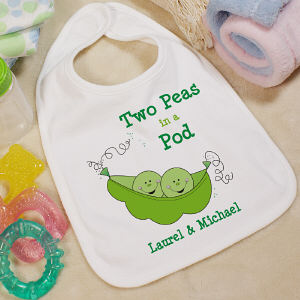 Two Peas In A Pod Baby Bib