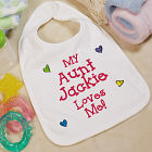 Who Loves Me Personalized Bib