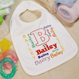 A is For Personalized Baby Bib