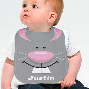 Personalized Easter Bunny Baby Bib