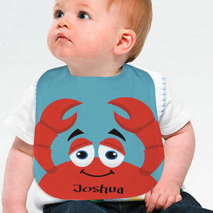 Personalized Crab Baby Bib
