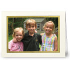 Gold Border Christmas Photo Card