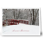 Winter Awaits Christmas Holiday Card