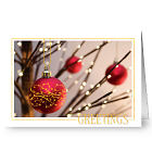 Elegant Ornaments Holiday Greeting Card