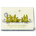 Personalized Nativity Religious Christmas Card