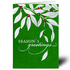 Leaves of Silver Holiday Card