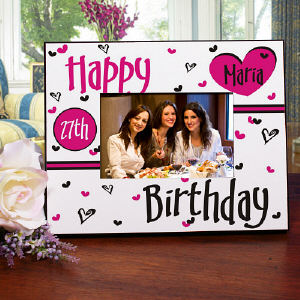 Happy Birthday Personalized Printed Frame
