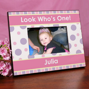 Personalized 1st Birthday Printed Picture Frame