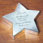 Engraved Birthday Silver Star Keepsake