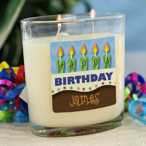 Personalized Birthday Cake Candle