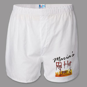 Red Hot Lover Personalized Boxer Shorts