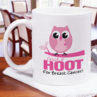 Give a Hoot Breast Cancer Mug