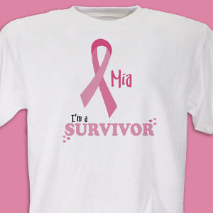 I'm A Survivor - Breast Cancer Awareness Personalized T-shirt
