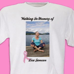Breast Cancer Support Photo T-Shirt